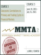 7-week Course on Geocosmic Correlations to Trading Cycles starts Saturday June19!